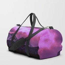 Chugach Mountains in Purple - II Duffle Bag