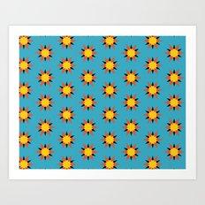 Retro Starburst Art Print