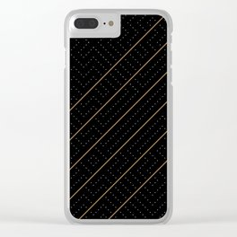 Artis 2.0, No.6 in Black & Gold Clear iPhone Case