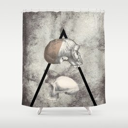 White Book Shower Curtain