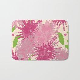 Abstract Pink Puffs Bath Mat
