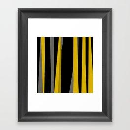 yellow gray and black Framed Art Print