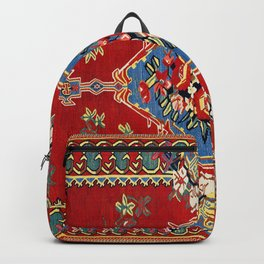 Bijar Silk Kilim  Antique Kurdish Persian Rug Print Backpack