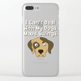 Funny Mood Swing T Shirt Design I can't deal Clear iPhone Case