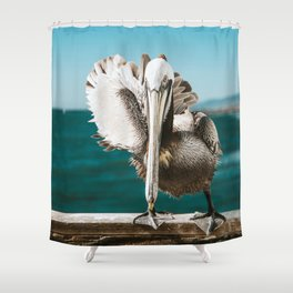Pelican Says Hi Shower Curtain