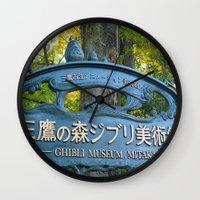 studio ghibli Wall Clocks featuring STUDIO GHIBLI MUSEUM - MITAKA, JAPAN by JCM Art