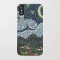 starry night iPhone & iPod Cases featuring starry night by Justin McElroy