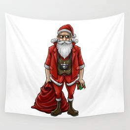Hipster Santa Claus | Christmas Style Cool Fashion Wall Tapestry