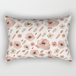 Blush rose floral pattern Rectangular Pillow