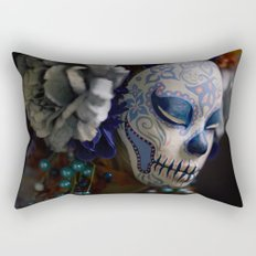 Berry Harvest Muertita Detail Rectangular Pillow