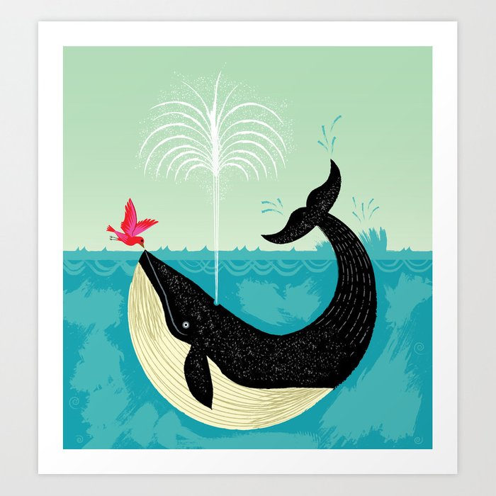 The Bird and The Whale Art Print