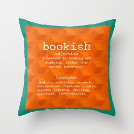 Bookish Throw Pillow