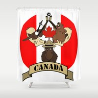 canada Shower Curtains featuring CANADA by scarah