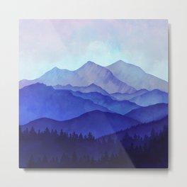 Blue Morning 1:1 Metal Print