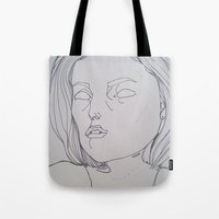 dana scully Tote Bags featuring DANA SCULLY / THE TRUTH IS OUT THERE by ANNI JW