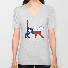 State of Texas Flag for Cat Lovers Unisex V-Neck