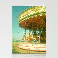 carousel Stationery Cards featuring Carousel by Cassia Beck