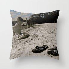 Dylan White Throw Pillow