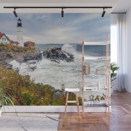Storm coming  in Cape Elizabeth Portland Maine Wall Mural