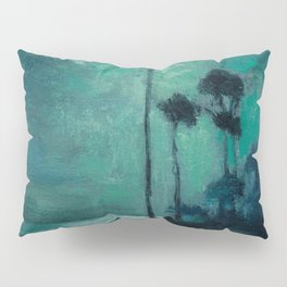 Tropical Nocturnal Landscape with Palms by Charles Warren Eaton Pillow Sham