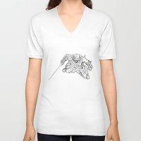 skyrim V-neck T-shirts featuring Dragonborn (Skyrim) by  Steve Wade ( Swade)