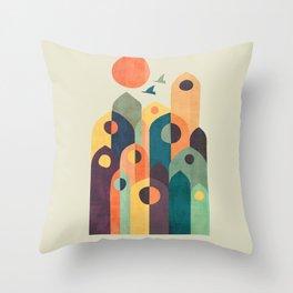 Ancient city Throw Pillow