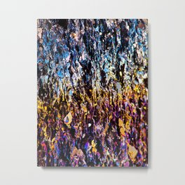 Iridiscent Crystal Metal Print