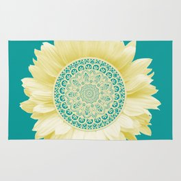 Sunflower Mandala Rug