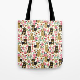 Yorkshire Terrier cute florals must have gifts for dog lover yorkie owners delight secret gifts art Tote Bag