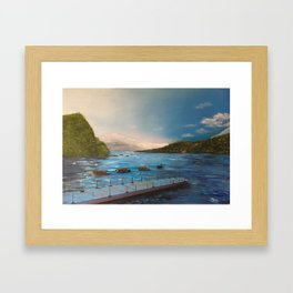 Japanese Fishing Pier Framed Art Print