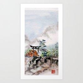 Torii Gate to Misty Mountain Art Print