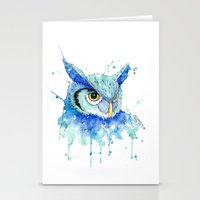 hedwig Stationery Cards featuring Color Hedwig  by Simona Borstnar