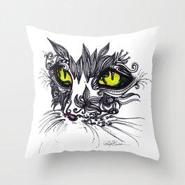 Intense Cat Throw Pillow