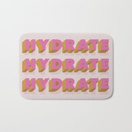 hydrate hydrate Bath Mat