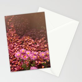 Colorful Pink Flowers Stationery Cards