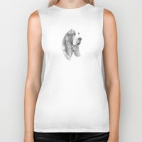 the hound Biker Tanks featuring Basset hound by Doggyshop