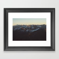Mountain pattern Framed Art Print