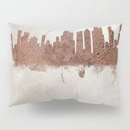 Chicago Illinois Rust Skyline Pillow Sham