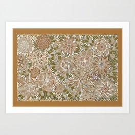 The Golden Mat Art Print