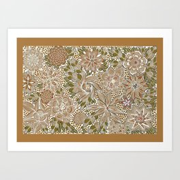 The Golden Mat Art Print