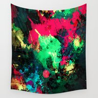 splash Wall Tapestries featuring Splash by RIZA PEKER