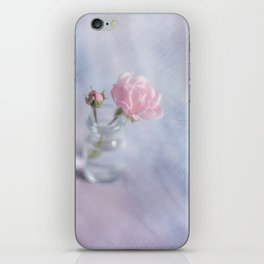 Square with a small rose iPhone Skin