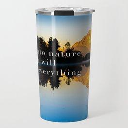 Einstein Quote On Nature Travel Mug