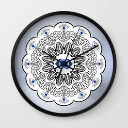 Third Eye Chakra Mandala Wall Clock