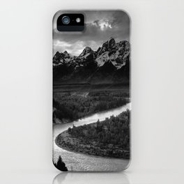 The Tetons and the Snake River | Wyoming | Ansel Adams iPhone Case