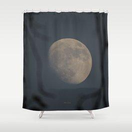Moon at Three-Quarters Shower Curtain