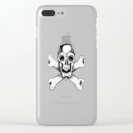 SKULL AND CROSSBONES Clear iPhone Case