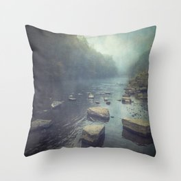 Stones in A River Throw Pillow