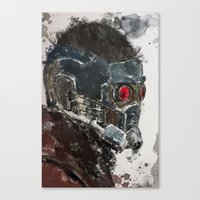 star lord Canvas Prints featuring Star Lord by Scofield Designs