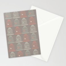 Bird Cage Pattern, Illustration, Shabby Chic, Vintage, Stationery Cards